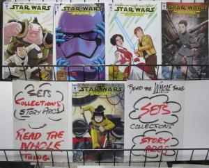 STAR WARS ADVENTURES (IDW, 2017) #2-6 VF-NM! Alan Tudyk,Ben Blacker/Acker