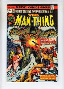 Man-Thing # 11 Strict VF/NM Artist Mike Ploog Cameo Fool Killer