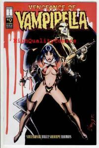 VENGEANCE of VAMPIRELLA #9, NM+, Fangs, Blood, 1994, Bat