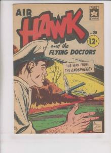 Air Hawk #20 FN+ page comics - silver star - flying doctors - silver age