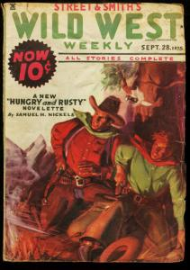 WILD WEST WEEKLY SEPT 28 1935 PULP WHISTLIN' KID S&S VG