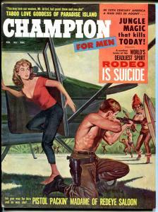 Champion for Men Magazine February 1960- Taboo Love Goddess- Rodeo