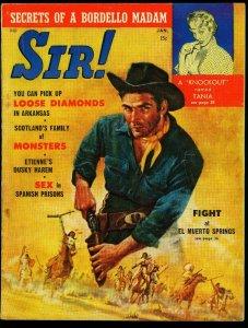 Sir! Pulp Magazine January 1959- Tania Velia- Bordello Madam VG