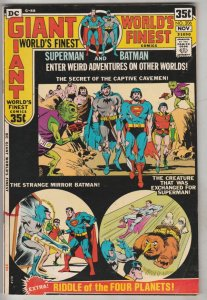 World's Finest #206 (Nov-71) VF High-Grade Superman, Batman, Robin