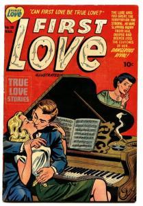 FIRST LOVE #26 comic book 1953-ROMANCE COVER ART-BOB POWELL STORY