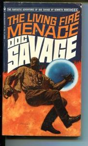 DOC SAVAGE-THE LIVING FIRE MENACE-#61-ROBESON-VG/FN-JAMES BAMA COVER- VG/FN