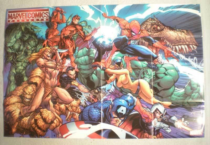 MARVEL COMICS PRESENTS Promo Poster, 36x24, Unused, Captain America, Hulk
