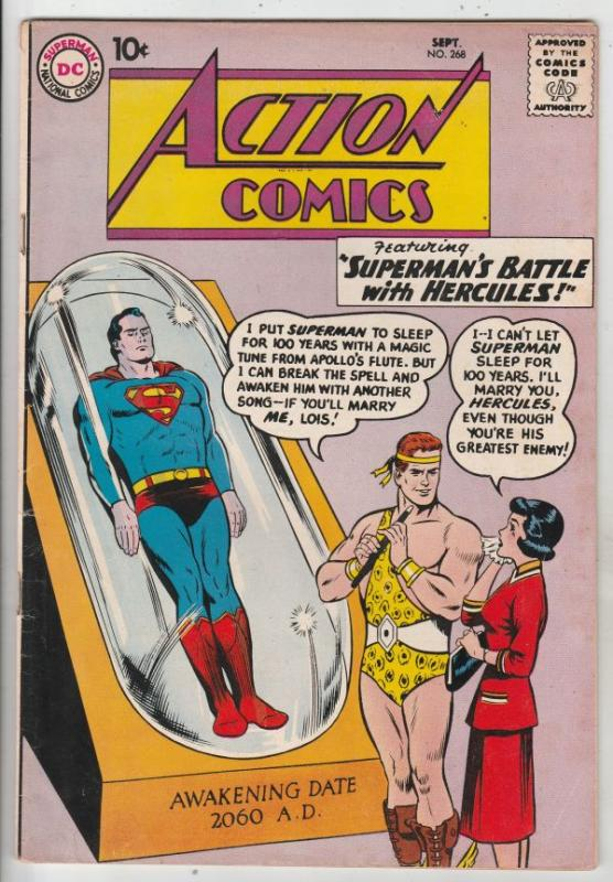 Action Comics #268 (Oct-60) VG/FN Mid-Grade Superman, Supergirl