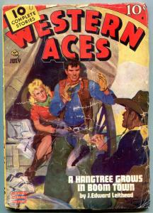 Western Aces Pulp July 1944- Hangtree Grows in Boom Town G
