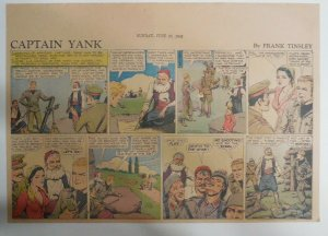 Captain Yank Sunday by Frank Tinsley from 6/20/1943 Size: 11 x 15 inches