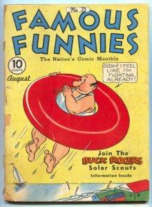 Famous Funnies #73 1940- Jack Kirby- Buck Rogers FAIR