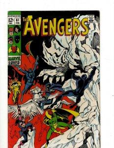 Avengers # 61 VF/NM Marvel Comic Book Hulk Thor Captain America Iron Man OF2