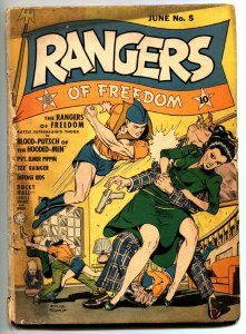 RANGERS #5 1942-FICTION HOUSE-Rare early issue- WWII comic book