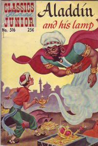 Classics Illustrated Junior #516 (May-55) VG/FN Mid-Grade Aladdin, the Genie ...