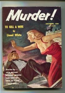 MURDER!-#1-SEPT 1956-PULP-VIOLENT-CRIME-SOUTHERN STATES PEDIGREE-vf