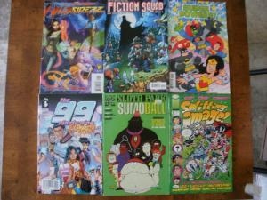 6 Comic Book: WILDSIDERZ #1 FICTION SQUAD #2 THE 99 #7 SLOTH PARK SUPER POWERS +