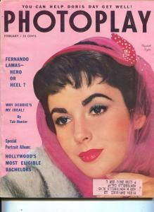 Photoplay-Liz Taylor-Fernando Lamas-Jane Wyman-Jane Wyman-Mike Wilding-Feb-1954