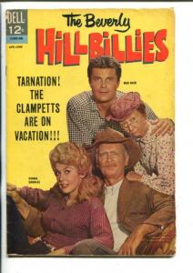 THE BEVERLY HILLBILLIES  #5-1964-DONNA DOUGLAS-BUDDY EBSEN-PHOTO COVER-DELL-vg