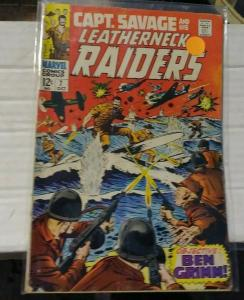 CAPTAIN SAVAGE AND HIS LEATHERNECK RAIDERS # 7 1968 MARVEL BEN GRIMM WW2 WAR