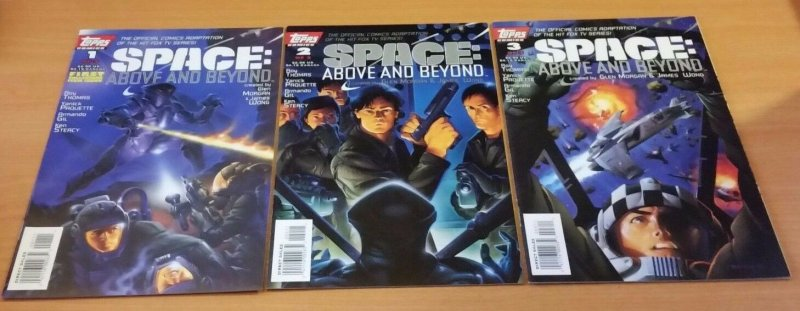 Space Above And Beyond 1-3 Complete Set Run! ~ NEAR MINT NM ~ 1996 Topps COMICS