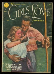 GIRLS LOVE STORIES #4 1950-DC COMICS-PHOTO COVER-GG ART VG