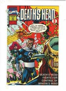 Death's Head II #2 VF+ 8.5 Marvel UK Comics 1992 Fantastic Four app.