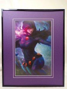 Teen Titans Judas Contract Raven Framed 16x20 Poster DC Comics Artgerm GGA