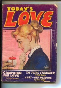 Today's Love 10/1954-Columbia-Girl art cover-Pulp stories by Doris Knight-Kat...