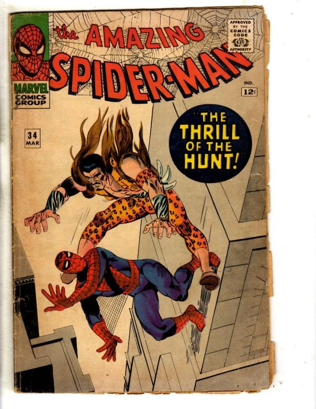 Amazing Spider-Man # 34 GD/VG Marvel Comic Book Goblin Silver Age Stan Lee JG9