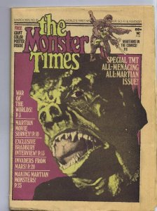 ORIGINAL Vintage 1974 The Monster Times Horror Newspaper Magazine #31 Martians