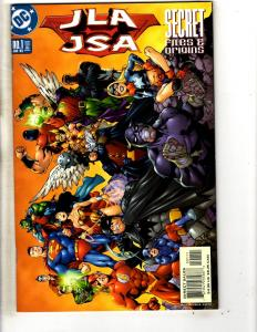 Lot Of 7 JLA DC Comic Books Secret Origins 1 Files 1 3 + Annual 1 2 3 4 CR21