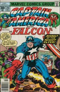 Marvel CAPTAIN AMERICA (1968 Series) #214 VF