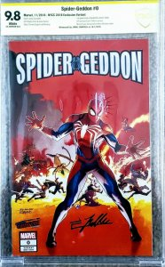 Spider-Geddon #0 CBCS 9.8 Signed Jamal Campbell SECRET WARS #8 HOMAGE not CGC