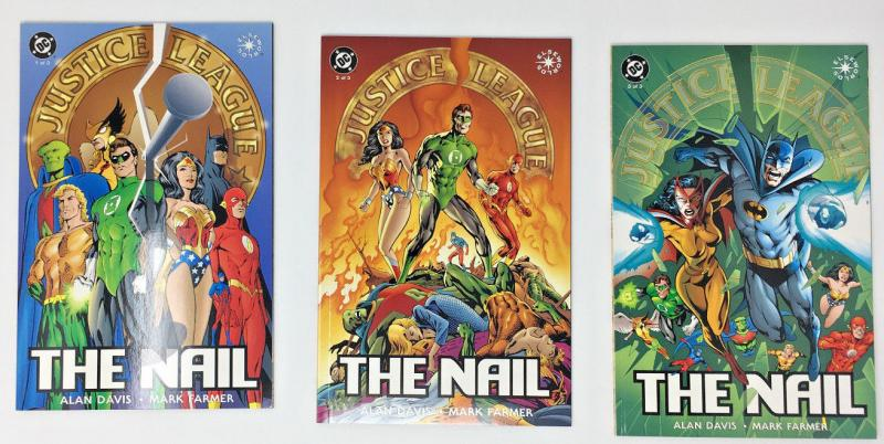 Justice League:The Nail Full Run Issues 1, 2, 3, Elseworlds VF+ - NM