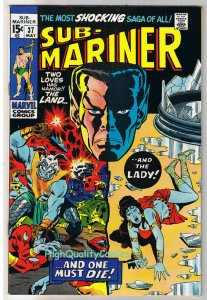 SUB-MARINER #37, FN+, Ross Andru, Dusty Death, 1968, more in store