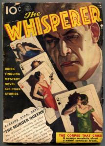The Whisperer Pulp September 1937- MURDER QUEENS VG