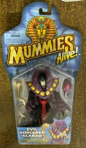 MUMMIES ALIVE: EVIL SORCERER SCARAB Action Figure SEALED on Card!