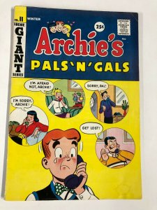 ARCHIES PALS N GALS 37 VG WINTER 1959-1960 GIANT SIZE Archie rejected