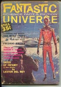 Fantastic Universe 3/1960-final issue-Fredric Brown-Robert Bloch-John Giunta ...