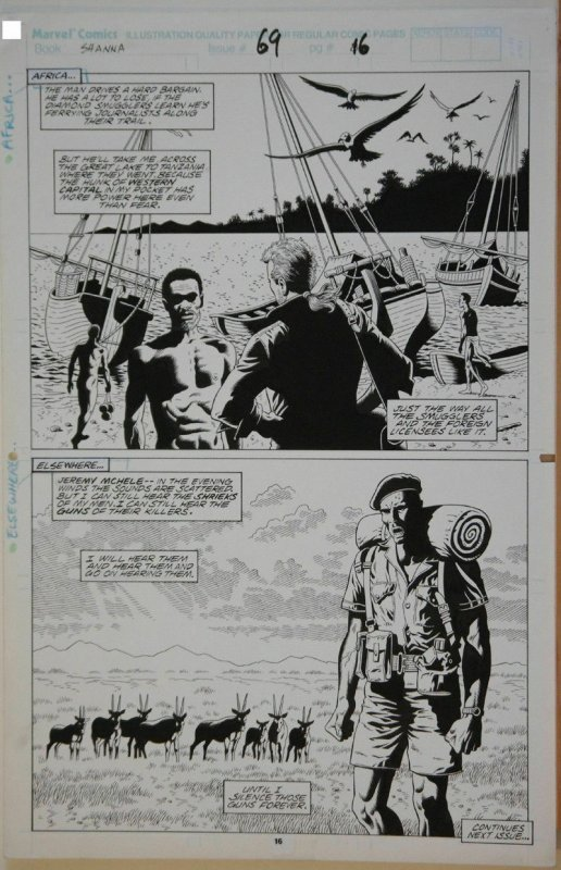 PAUL GULACY / GARY MARTIN original art,MARVEL COMICS PRESENTS #69 pg 16, 11x17