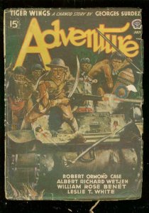 ADVENTURE PULP-JULY 1942-WW II ACTION COVER-CAMBODIA VG