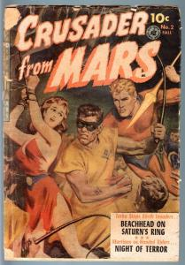 CRUSADER FROM MARS #2-1952-NORMAN SAUNDERS-SCI FI GOLDEN AGE-FR FR
