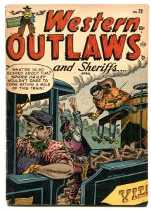 Western Outlaws and Sheriffs #72 1952- Atlas comics- Black Bart VG