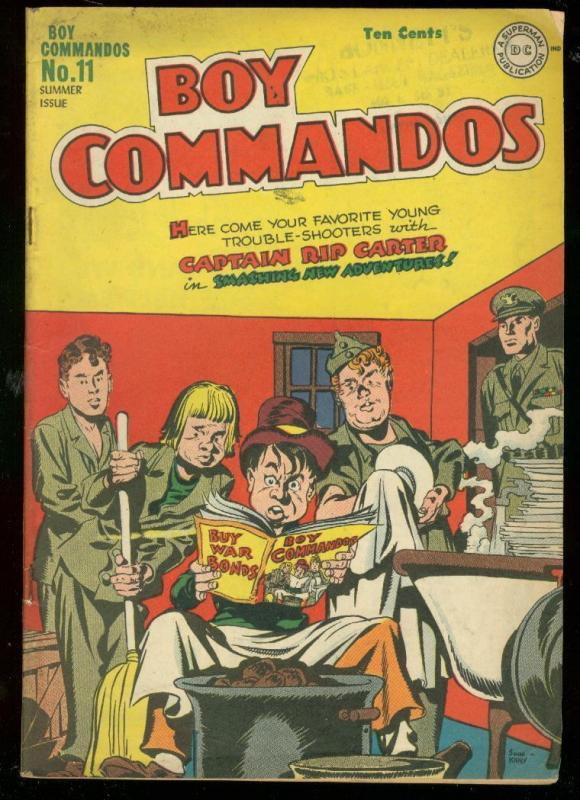 BOY COMMANDOS #11 1945-SIMON & KIRBY-INFINITY COVER-WW2 VG+