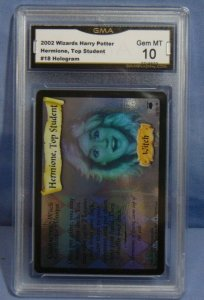 2002 Harry Potter TCG Hermione Top Student #18 Hologram Card - Graded MINT 10