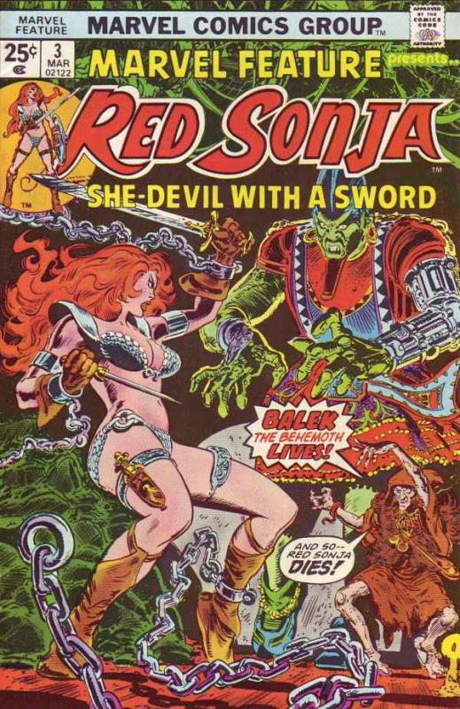 Marvel Feature presents Red Sonja #3 (Mar-76) NM+ Super-High-Grade Red Sonja