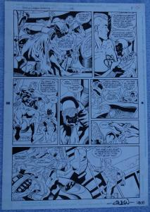 CHUCK WOJTKIEWICZ KEN BRANCH original art, JUSTICE LEAGUE of AMERICA #101,Signed