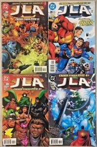 JLA#28-31 VF/NM LOT 1999 'CRISIS TIMES FIVE' GRANT MORRISON DC COMICS