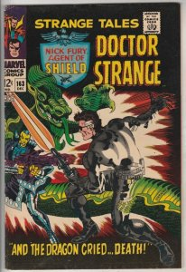 Strange Tales #163 (Aug-67) VF+ High-Grade Nick Fury, Dr. Strange