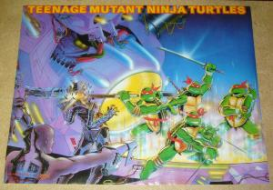 Teenage Mutant Ninja Turtles poster - 28 x 21.5 - art from nes game - 1988 #95